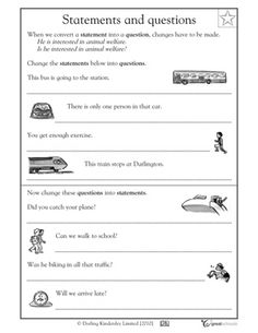 5 great writing worksheets: grade 3 - Statements and questions | GreatSchools