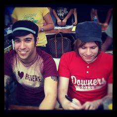 Pete & Patrick. I miss Pete's I ♥ Revenge shirt