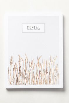 Cereal magazine, no. 4, $20 (UK-based quarterly) Pinning made easy! http://www.pinny.co Pin any photo in any website with a click.