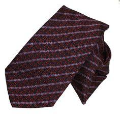 Gucci Necktie Regis Horsebit Black & Red Woven Silk Tie for Men 327385