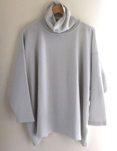 NEW-Eskandar-OS-Lightest-MINT-GRAY-100-Cashmere-Medium-Weight-Luxury-Sweater
