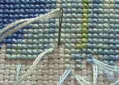 Pin stitch-another way to secure your thread when cross stitching. I'll be trying this technique...thanks for posting!