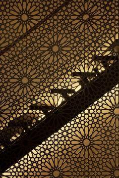 classic moorish pattern laser cut to stair balustrade