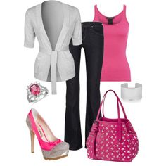 Like the idea, even tho I said grey and pink aren't my fave colors, this combo works