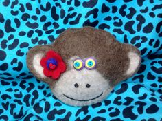 Felted wool monkey bag by showmealittlesign on Etsy Felted Wool, Wool Felt, Monkey Bag, Year Of The Monkey, Valentine Day Gifts, Unique Jewelry, Handmade Gifts, Bags, Etsy
