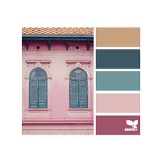 Design Seeds for all who color building hues ❤ liked on Polyvore