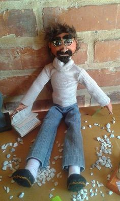 """Hombrecito""  Fabric doll.  Elsa Sanguino. 2014"