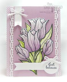 Our Daily Bread Designs Stamp Set: Tulips, Custom Dies: Tulip, Beautiful Borders, Circles, Circle Ornaments, Pennant Flags, Paper Collection:Pastel