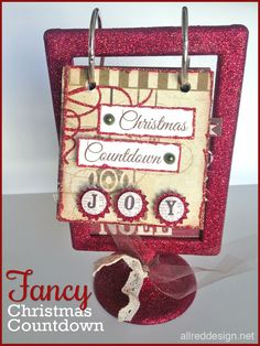 Two DIY Christmas Countdown Advent Calendars featuring an Ikea frame - Pick from fancy or cute with instructions.