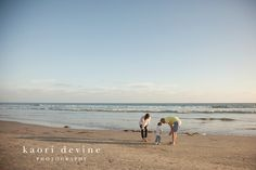 Coronado beach, family session. Long shadows are great.