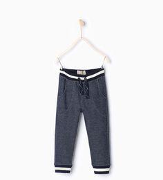 Contrasting ribbed trousers-Jogging-Boy | 4-14 years-KIDS | ZARA United Kingdom