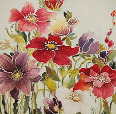 I love this artist's work. This one -Colourful field original floral painting by Manuela by Majart, $125.00