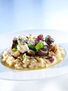 Mushroom Risotto, Potato Salad, Oatmeal, Stuffed Mushrooms, Potatoes, Dinner, Breakfast, Ethnic Recipes, Food