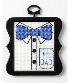 Five Free Father's Day Cross Stitch Patterns (it's a freebie roundup)