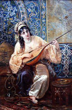 Odalisca by Theodor Aman Romanian Painter 1831 AD - 1891 AD Empire Ottoman, Victorian Paintings, Exotic Art, Pics Art, Turkish Art, Classic Paintings, Arabian Nights, Renoir, Islamic Art