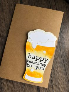 Happy Beerthday beer art craft beer lover beer card birthday card watercolor card beer gift gift for him handmade card bestseller Diy Birthday Gifts For Dad, Homemade Birthday Cards, Dad Birthday Card, Birthday Cards For Men, Funny Birthday Cards, Happy Birthday Beer Images, Birthday Greeting Cards Handmade, Creative Birthday Cards, Handmade Birthday Gifts