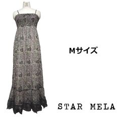 STAR MELA スターメラ ワンピース ANJIKA MAXI DRESS カーキ マルチ キャミワンピース ロング キャミドレス マキシ丈 マキシワンピース セクシー 背中 リゾート マキシドレス コットン Mサイズ 在庫限り 海外 ブランド