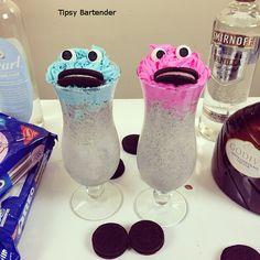 Drunken Cookie Monster! You gotta love it! For the recipe, visit us here: www.TipsyBartender.com