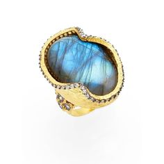 Women's Azaara Labradorite Ring ($295) ❤ liked on Polyvore featuring jewelry, rings, floral ring, filigree rings, filigree jewelry, azaara jewelry and floral jewelry