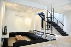 Minimalist Home Interior Design Minimalist home design, with very little and simple furniture, has impressed many people. Many a time the way we value our home, the way we furnish and decorate a ho… Minimalist House Design, Minimalist Home Interior, Home Interior Design, Room Interior, Interior Designing, Minimalist Style, Sunken Living Room, Living Area, Living Rooms