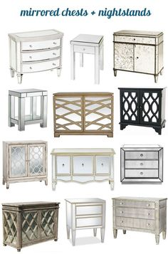 When there's a need for glamour in a bedroom space, a mirrored bedside chest or nightstand will certainly do the trick!  A reflective surface is another layer to consider when designing a sophisticated master or guest bedroom.  A mirrored piece of furniture guarantees modern flair, and like all mirrors, will pull more light into the [...]