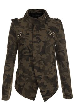 #romwe Threadbare Diamond Camouflage Jacket    $95.99 #romwe