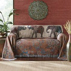 Covering a chair with a throw Treasured Icons Furniture Throw Happy Elephant, Elephant Love, Elephant Art, Elephant Gifts, Elephant Stuff, Elephant Bedding, Elephant Home Decor, Living Room Decor Colors, Diy Couch