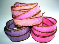 Enchanted Trio 3 coordinating hand dyed silk by ColorKissedSilk, $9.00