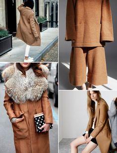 CAMEL INSPIRATION - Style magazine | Škola stylu BACKSTAGE Collage Vintage, Backstage, Camel, Fur Coat, Street Style, Stylish, My Style, Jackets, Passion