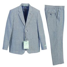 Gioberti Boys Linen Jacket and Dress Pants Suit Set -- Details can be found at