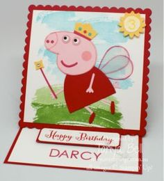 Stampin' Up! Stamping T! - Peppa Pig Square Easel Card