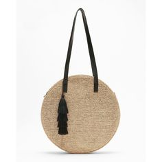 Express Metallic Round Straw Tote (825.300 IDR) ❤ liked on Polyvore featuring bags, handbags, tote bags, neutral, white tote, straw tote, zip top tote bags, zip top tote and metallic tote bag