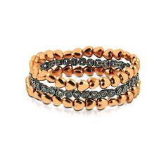 Mix de pulseiras folheadas em ouro rosé - Avec Poá