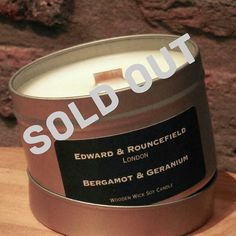 We are sorry to say that our Bergamot and Geranium candle has SOLD OUT! But check out our shop for our new Christmas scents #giftideas #homedecor #scentedcandles #edwardandrouncefield #handmade #soldout #woodenwickcandle #candles #christmascandle #cracklethischristmas