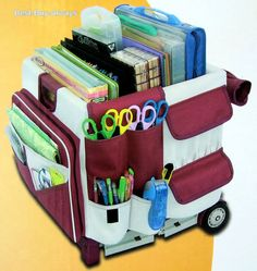 MemoryStor Scrapbook Cart Rolling Organizer Storage Wheeled Tote Classroom Tool  Scrapbook Storage 6d1f599997263