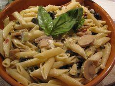 goat cheese and artichoke pasta salad