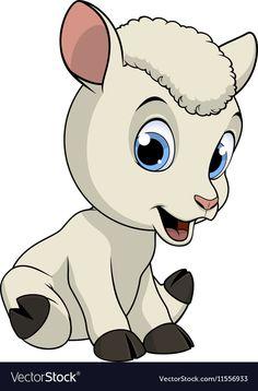 Little funny lamb Royalty Free Vector Image - VectorStock , Cartoon Lamb, Cute Cartoon, Dog Vector, Vector Art, Lama Animal, Dream Catcher Vector, Baby Animals, Cute Animals, Baseball Vector