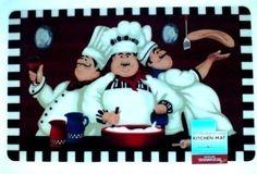 Fat Chef Kitchen Rug Mat 17 X 28 Inches Phote- Like Quality for sale online Bistro Kitchen Decor, Kitchen Themes, Kitchen Flooring, Kitchen Rug, Kitchen Stuff, Kitchen Backsplash, Kitchen Gadgets, Sunflower Kitchen Decor, Accent Rugs