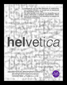 Afiche tipográfico by MininaGráfica #typo #helvetica