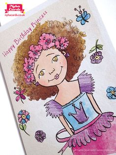 Flower Princess Greeting Card  Multicultural by nyhagraphics