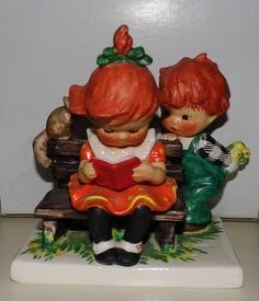 "Vintage ""Redhead"" Figurine by Goebel, W. Germany, ""A Young Man's Fancy"""