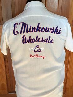 #Bowling #Shirt #Vintage Minkowski Wholesale #Chainstitch Don Bowling Pin Buttons M #kenosha #wi #halloween #costume #halloweencostume