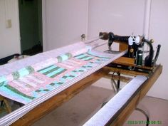 DIY quilt frame for regular machine
