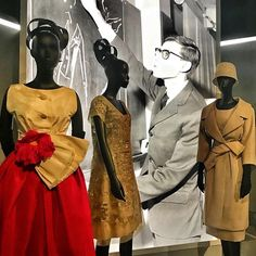 Thank God Yves Saint-Laurent was born today in 1936. Some of his iconic designs when he was Creative Director at Dior on show @lesartsdecoratifs and more on the blog (link in bio)