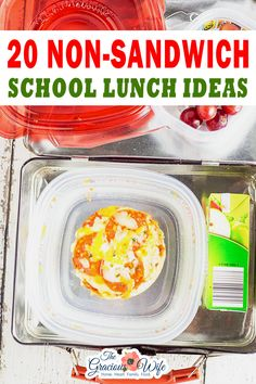 Be inspired to get out and stay out of a lunchbox rut this school year with these 25 non-sandwich school lunch ideas that your kids will love! With the new school year approaching, I'm entering planning mode. Planning for school supplies and gear, new schedules, and even a new school for us this year.   The Gracious Wife @thegraciouswife #AD @gladproducts #schoollunchideas #healthyschoollunch #easyschoollunchideas #kidfriendlylunches #healthylunchboxideas #thegraciouswife Healthy School Lunches, After School Snacks, Non Sandwich Lunches, Family Meals, Family Recipes, Kid Friendly Meals, Lunch Ideas, School Supplies, Breakfast Recipes