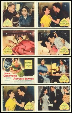 Autumn Leaves from 1956- Joan Crawford and Cliff Robertson.  This is a movie I only discovered in the last few years, and I have to say I think it's one of Joan's best performances, she was able to convey Millie's loneliness and insecurity regarding her age with such ease, that my heart ached for her.