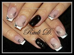 French black~white by RadiD - Nail Art Gallery nailartgallery.nailsmag.com by Nails Magazine www.nailsmag.com #nailart