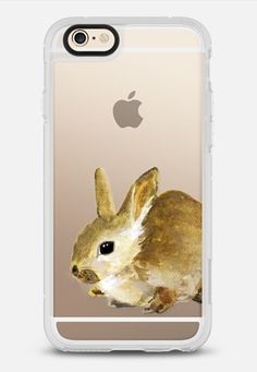 Cute Rabbit Bunny Watercolor Painting Transparent iPhone 6 case by WhatAColor | @casetify