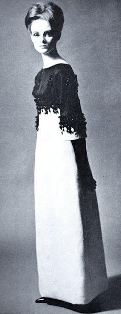 Grace Coddington in Cristóbal Balenciaga, 1964
