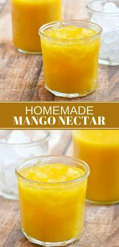 Homemade mango necta